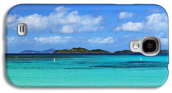 Surreal Landscape Galaxy S4 Cases - Caribbean Beach Panorama Galaxy S4 Case by Luke Moore