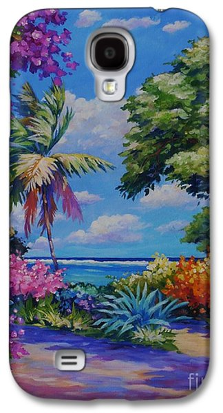 Hibiscus Galaxy S4 Cases - Caribbean Colours Galaxy S4 Case by John Clark