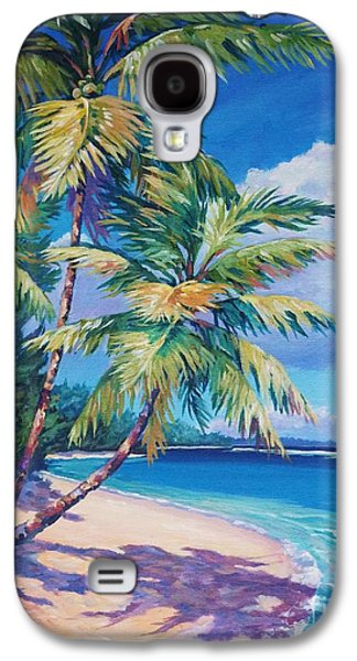 Winter Paintings Galaxy S4 Cases - Caribbean Paradise Galaxy S4 Case by John Clark
