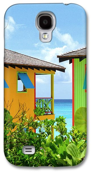 Cabin Window Galaxy S4 Cases - Caribbean Village Galaxy S4 Case by Randall Weidner