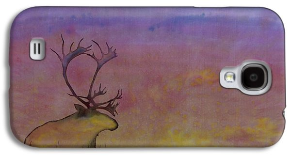 Autumn Landscape Tapestries - Textiles Galaxy S4 Cases - Caribou on the Tundra Galaxy S4 Case by Carolyn Doe