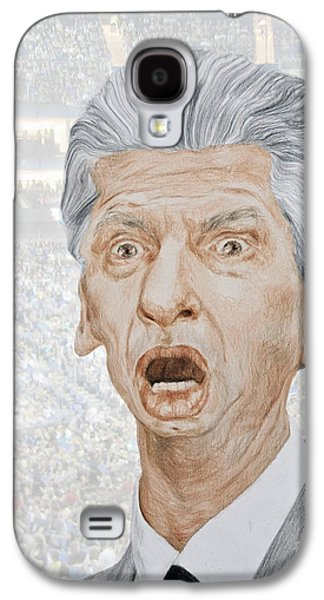 Owner Drawings Galaxy S4 Cases - Caricature of WWE Owner Vince McMahon Galaxy S4 Case by Jim Fitzpatrick