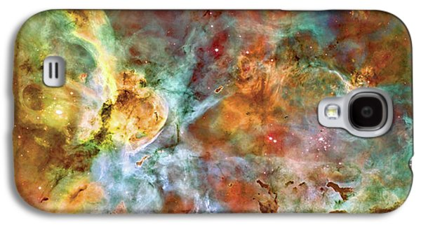 The Heavens Galaxy S4 Cases - Carina Nebula - Interpretation 1 Galaxy S4 Case by The  Vault - Jennifer Rondinelli Reilly