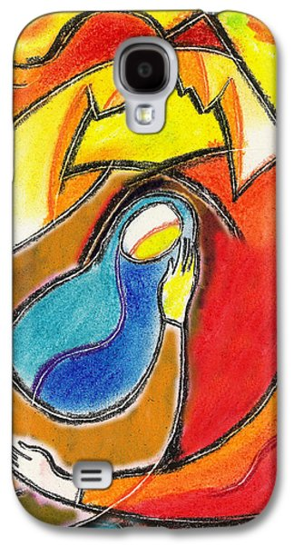 Women Together Paintings Galaxy S4 Cases - Caring Galaxy S4 Case by Leon Zernitsky