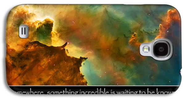 The Heavens Galaxy S4 Cases - Carl Sagan Quote and Carina Nebula 3 Galaxy S4 Case by The  Vault - Jennifer Rondinelli Reilly