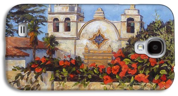 Buildings By The Sea Galaxy S4 Cases - Carmel Mission Galaxy S4 Case by Shelley Cost
