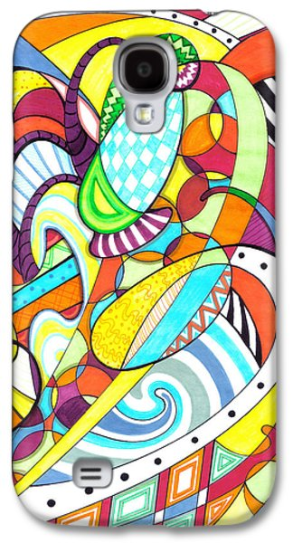 Youthful Mixed Media Galaxy S4 Cases - Carnival  Galaxy S4 Case by Shawna  Rowe