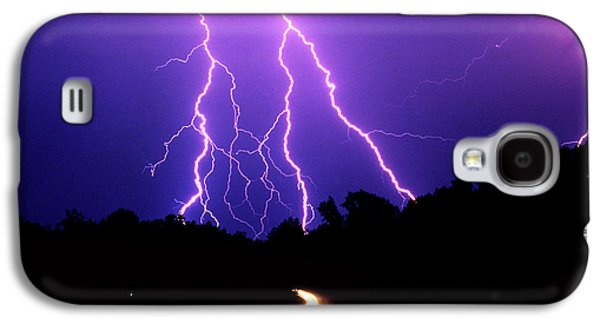 Lightning Digital Art Galaxy S4 Cases - Carolina Electrical Storm Galaxy S4 Case by Mike McGlothlen