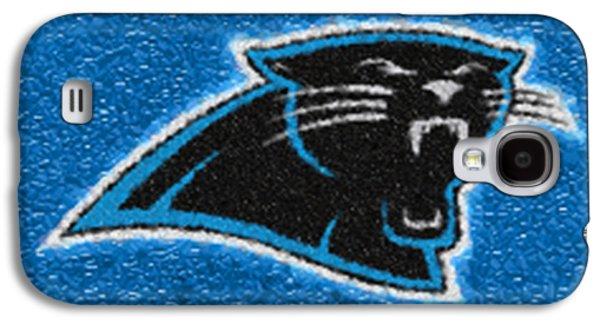 Charlotte Digital Art Galaxy S4 Cases - Carolina Panthers Mosaic Galaxy S4 Case by Jack Zulli