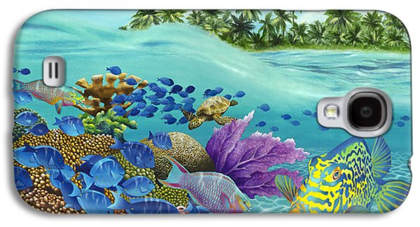 Schools Of Fish Galaxy S4 Cases - Coral Carnival Galaxy S4 Case by Carolyn Steele