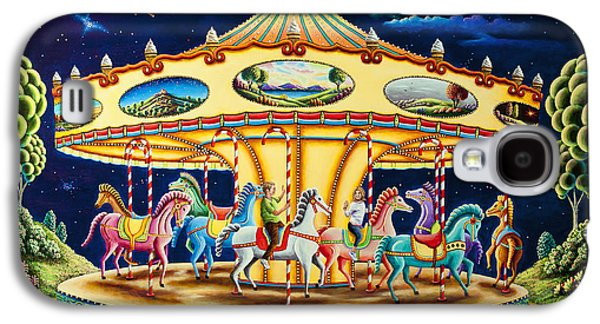 Carousel Horse Paintings Galaxy S4 Cases - Carousel Dreams 3 Galaxy S4 Case by Andy Russell