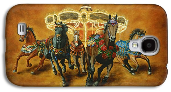 Carousel Horse Paintings Galaxy S4 Cases - Carousel Escape Galaxy S4 Case by Jason Marsh