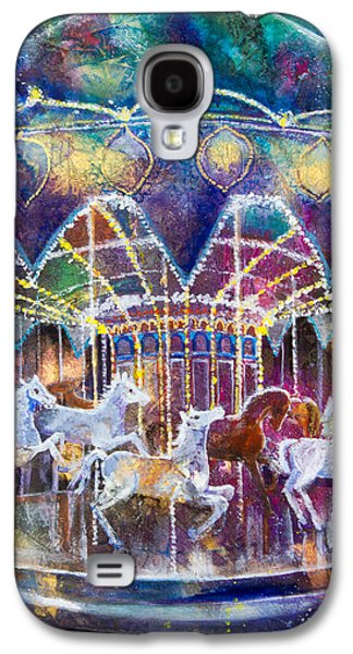 Paiting Galaxy S4 Cases - Carousel Galaxy Galaxy S4 Case by Patricia Allingham Carlson