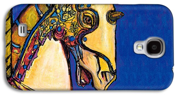 Carousel Horse Paintings Galaxy S4 Cases - Carousel Horse Galaxy S4 Case by Dale Moses