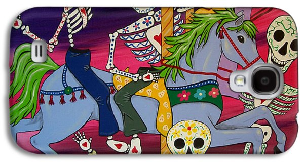 Diego Rivera Galaxy S4 Cases - Carousel Horses and Skeletons Galaxy S4 Case by Julie Ellison