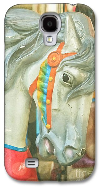 Original Art Photographs Galaxy S4 Cases - Carousel Painted Pony Galaxy S4 Case by Colleen Kammerer