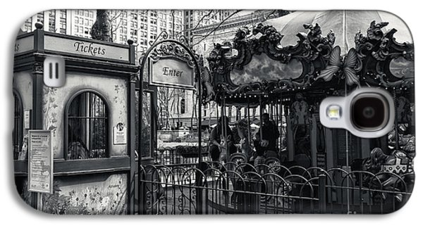 Bryant Park Galaxy S4 Cases - Carousel Tickets mono Galaxy S4 Case by John Rizzuto