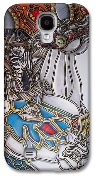 Carousel Horse Paintings Galaxy S4 Cases - Carousel Two Galaxy S4 Case by Jerry Foxworth