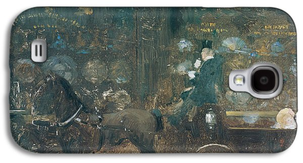 Comfort Paintings Galaxy S4 Cases - Carriage Ride Galaxy S4 Case by Giuseppe De Nittis