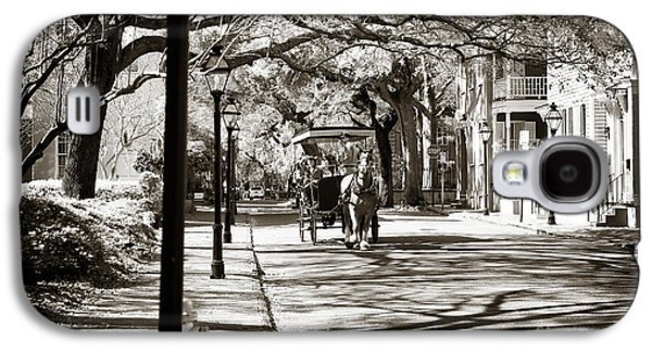 Horse And Buggy Galaxy S4 Cases - Carriage Ride in Charleston Galaxy S4 Case by John Rizzuto