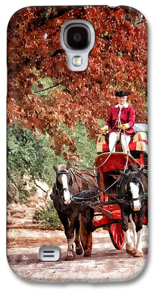 Horse And Cart Digital Art Galaxy S4 Cases - Carriage Ride Galaxy S4 Case by Shari Nees