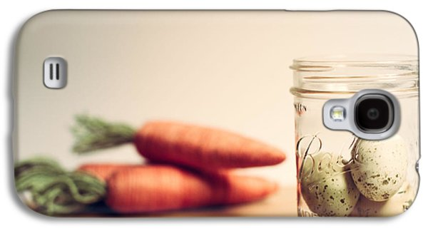 Mason Jars Galaxy S4 Cases - Carrots and Eggs 1 Galaxy S4 Case by Rebecca Cozart