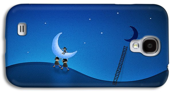 Animation Galaxy S4 Cases - Carry the Moon Galaxy S4 Case by Gianfranco Weiss