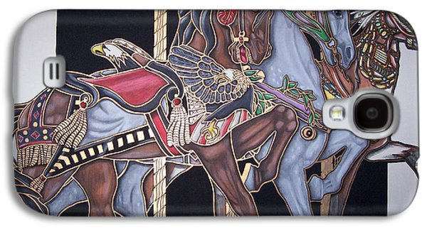 Carousel Horse Paintings Galaxy S4 Cases - Carry Us All Galaxy S4 Case by Jerry Foxworth