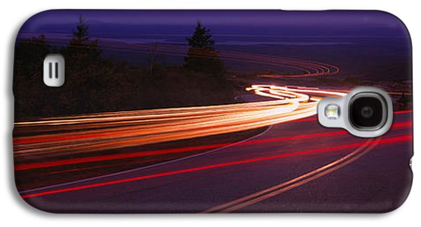 Maine Roads Galaxy S4 Cases - Cars Moving On The Road, Mount Desert Galaxy S4 Case by Panoramic Images