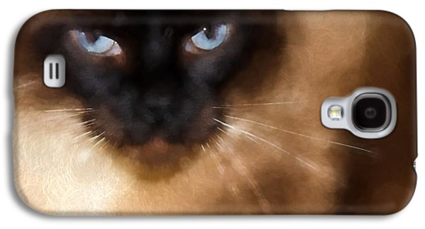 Cats Pyrography Galaxy S4 Cases - CarsonTheCat Galaxy S4 Case by Edward Cooper