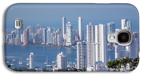 Buildings By The Ocean Galaxy S4 Cases - Cartagenha Columbia in a Distance Galaxy S4 Case by Gena Weiser