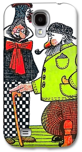Character Portraits Drawings Galaxy S4 Cases - Cartoon 08 Galaxy S4 Case by Svetlana Sewell