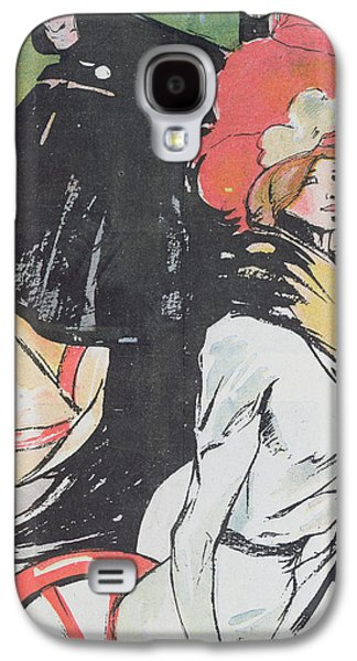 Sex Drawings Galaxy S4 Cases - Cartoon Depicating a Cabman with a Courtesan Galaxy S4 Case by Francisco Xavier Gose