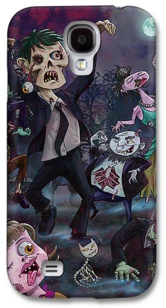 Creepy Digital Galaxy S4 Cases - Cartoon Zombie Party Galaxy S4 Case by Martin Davey