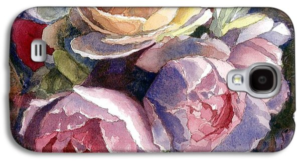 Caryn's Roses Galaxy S4 Case by Janet King