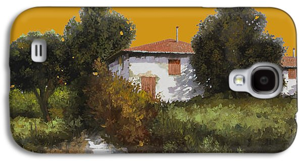 Grape Vineyard Galaxy S4 Cases - Casa Al Tramonto Galaxy S4 Case by Guido Borelli