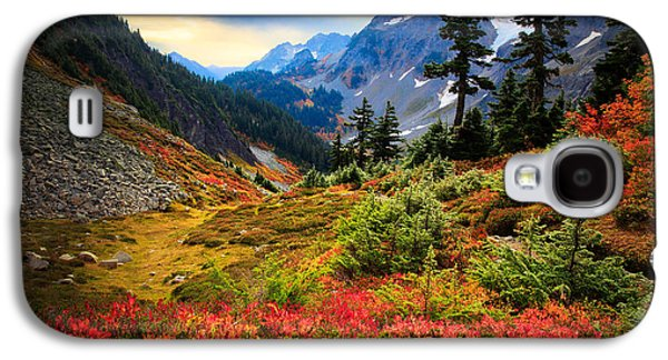 Solitude Photographs Galaxy S4 Cases - Cascade Pass Fall Galaxy S4 Case by Inge Johnsson