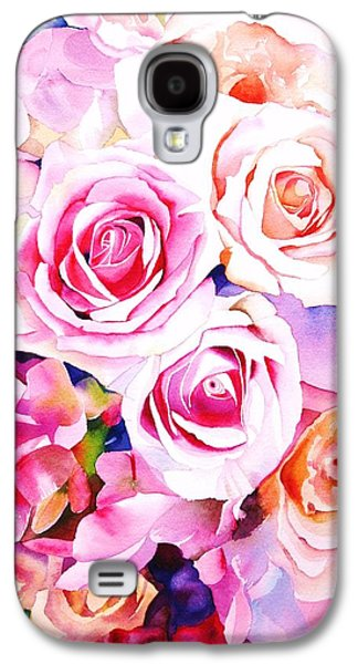 Roses Galaxy S4 Cases - Cascade Galaxy S4 Case by Sarah Bent