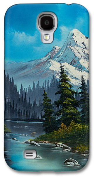Sawtooth Mountain Paintings Galaxy S4 Cases - Cascading Falls Galaxy S4 Case by C Steele