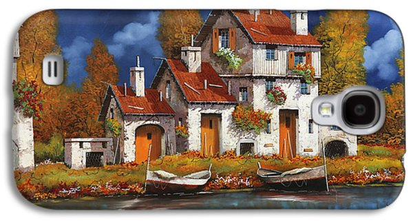 White House Galaxy S4 Cases - Case Bianche Sul Fiume Galaxy S4 Case by Guido Borelli