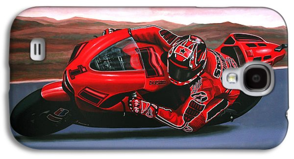 Work Of Art Galaxy S4 Cases - Casey Stoner on Ducati Galaxy S4 Case by Paul  Meijering