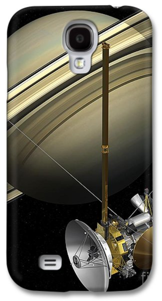 Component Photographs Galaxy S4 Cases - Cassini-huygens Probe And Saturn, Artwork Galaxy S4 Case by Carlos Clarivan
