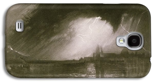 Thunder Paintings Galaxy S4 Cases - Castania Sicily Galaxy S4 Case by Joseph Mallord William Turner
