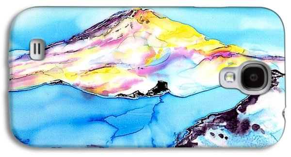 Fantasy Tapestries - Textiles Galaxy S4 Cases - Caste Rock Antarctica Galaxy S4 Case by Carolyn Doe