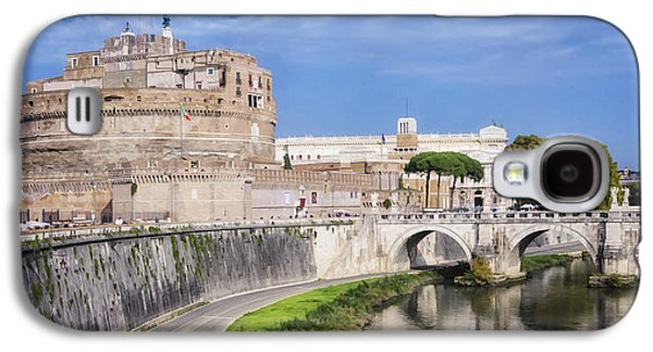 Fantasy Photographs Galaxy S4 Cases - Castel Sant Angelo Galaxy S4 Case by Joan Carroll