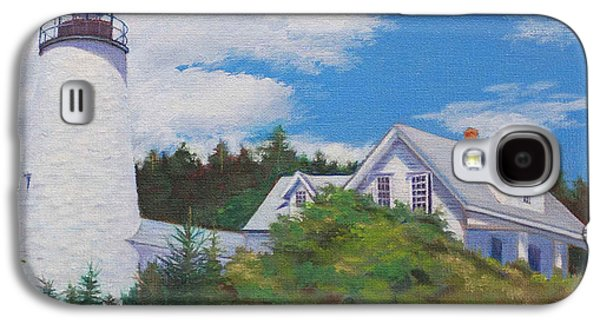 Penobscot Bay Paintings Galaxy S4 Cases - Castine Light Galaxy S4 Case by Judith McKenna