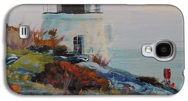 New England Lighthouse Paintings Galaxy S4 Cases - Castle Hill Lighthouse Newport RI Galaxy S4 Case by Patty Kay Hall