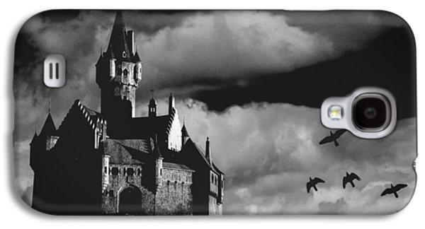 Dreamscape Digital Art Galaxy S4 Cases - Castle in the sky Galaxy S4 Case by Bob Orsillo