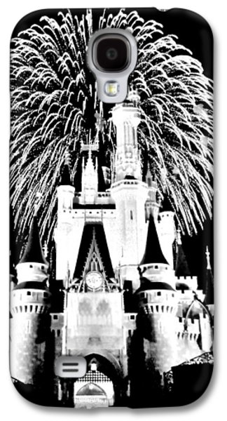 Fantasy Photographs Galaxy S4 Cases - Castle Show Black and White Galaxy S4 Case by Benjamin Yeager