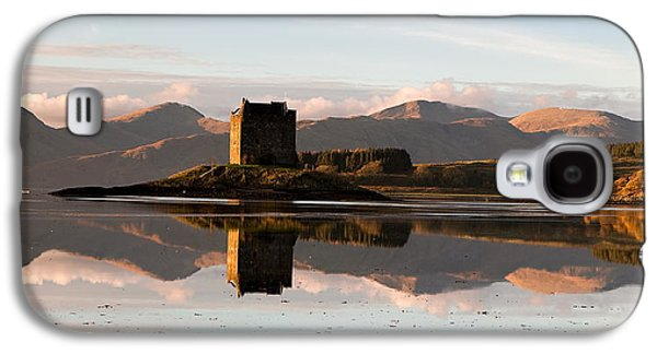 Highlands Digital Art Galaxy S4 Cases - Castle Stalker - Sunset Galaxy S4 Case by Pat Speirs